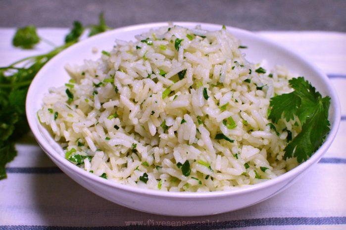 Cilantro Rice Recipe | Five Senses Palate