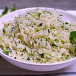 Cilantro Rice Recipe | Five Senses Palate