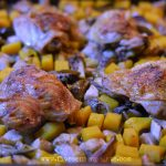 Fall vegetables and chicken pan roast recipe