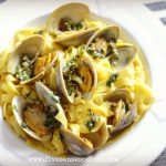 Tagliatelle with Clams & Saffron Broth