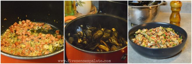 Mussels with Chorizo and Sweet Peppers Recipe | Five Senses Palate