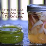 Ramps two ways ramp salsa verde and pickled ramps recipe