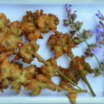 Fried Sage Flowers