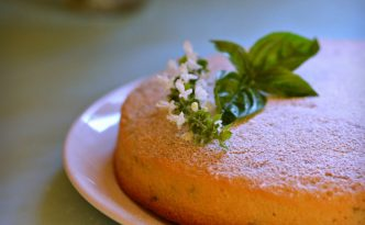 Olive Oil Basil & Lemon Cake Recipe | Five Senses Palate