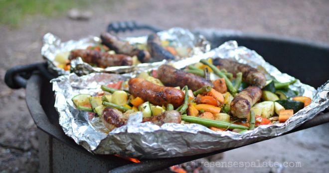 Vegetables & Sausage Over Campfire Recipe | Five Senses Palate
