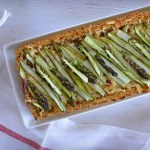 Asparagus Tart with Quinoa Crust