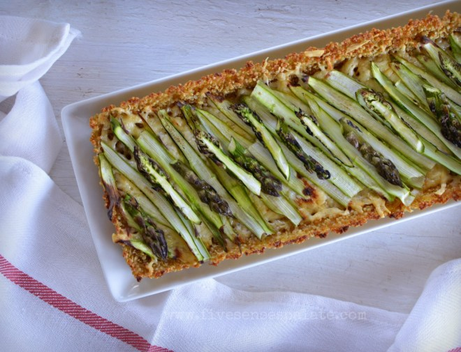 Asparagus Tart with Quinoa Crust Recipe | Five Senses Palate