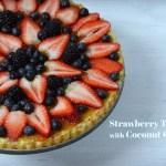 Strawberry Almond Tart with Coconut Crust Recipe | Five Senses Palate
