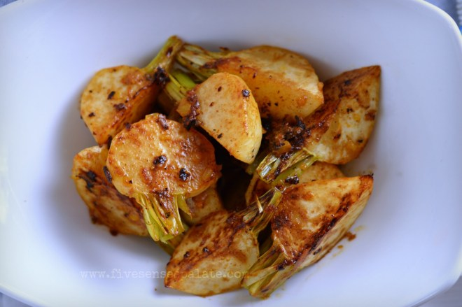 Seared Turnips with Compound Butter Recipe | Five Senses Palate