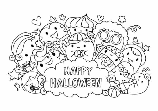 coloring halloween pages # 64