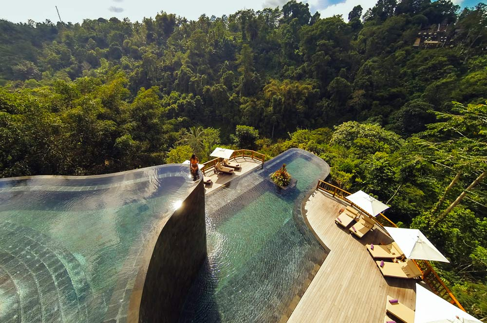 Pool at Hanging Gardens Ubud in Bali, Indonesia