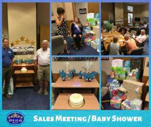 Five Star July Birthdays and Showers