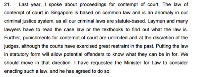 Chan Sek Keong 2010 contempt of court
