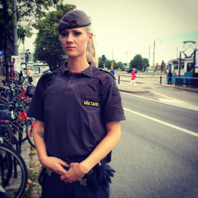 A Security Officer from Securitas, Swedish security company
