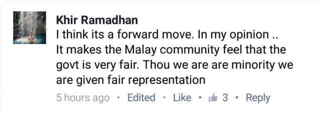 Malay president tokenism