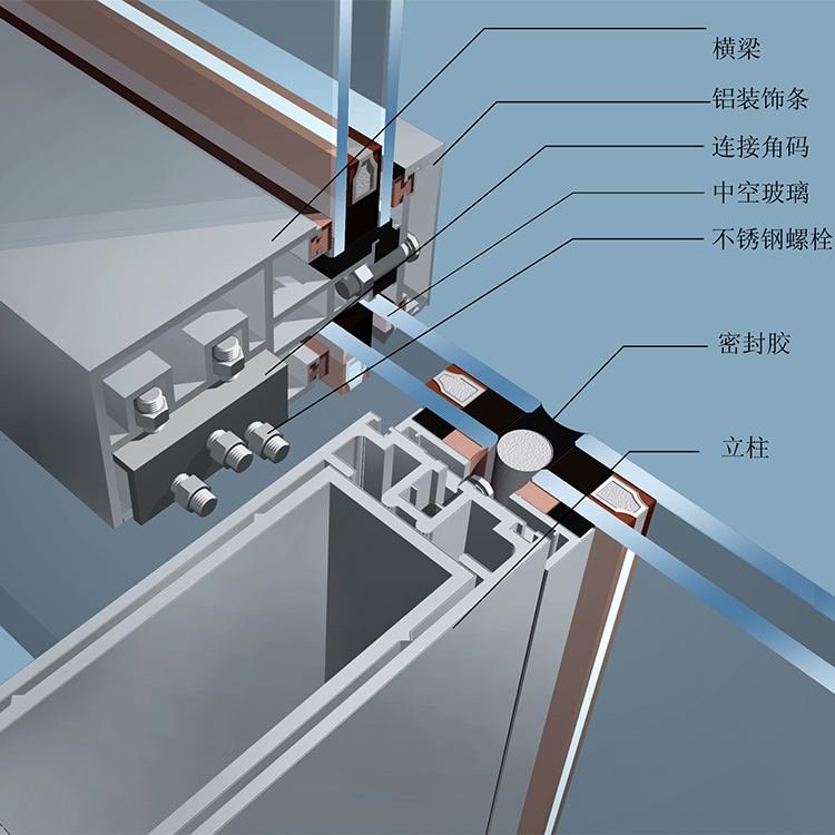 china unitized curtain wall system