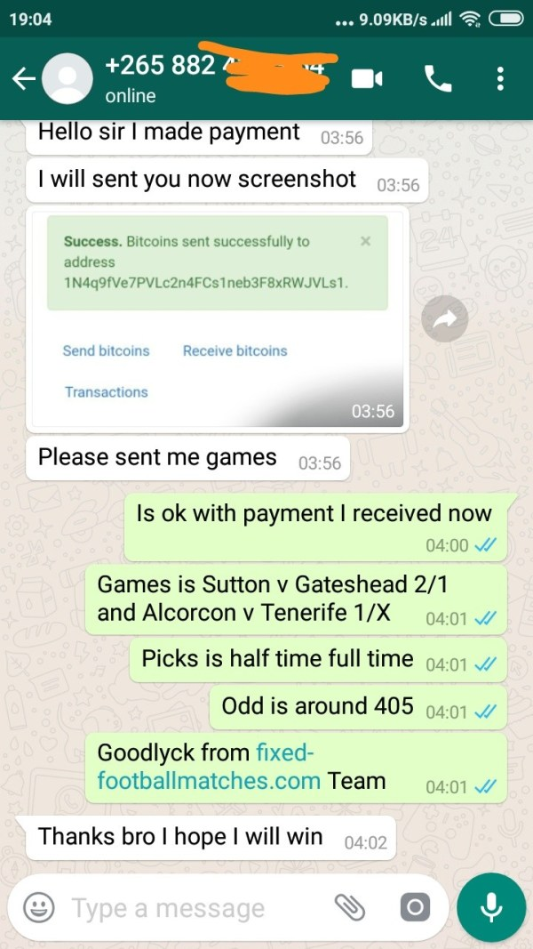 whatsapp fixed 06 03 from clients fixed matches -