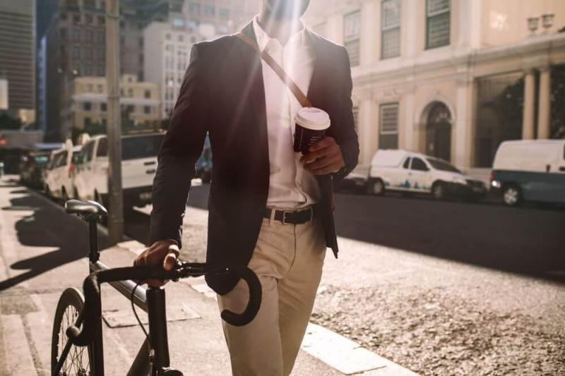 commuting to work by bike