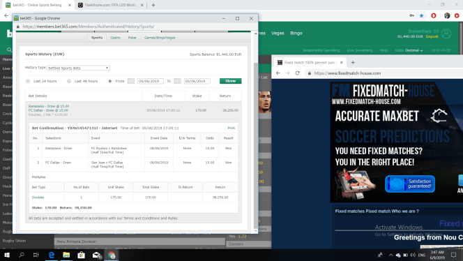 Fixed match 100% percent sure wins today Soccer fixed matches 1x2