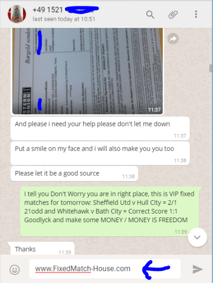 Proof from whatsupconversation