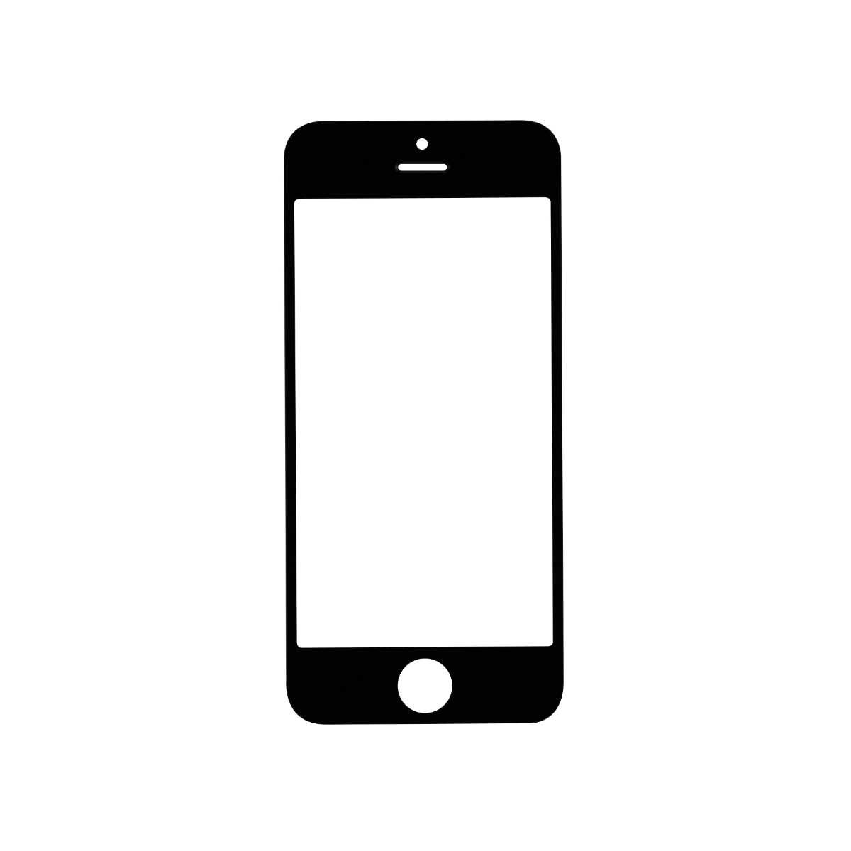 Iphone 5 5c 5s Black Glass Lens Screen