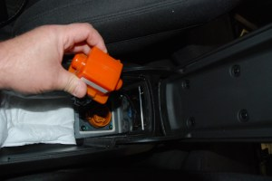 Look in the console for the safety plug