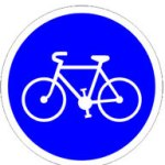 Panneau de signalisation : entrée de piste cyclable