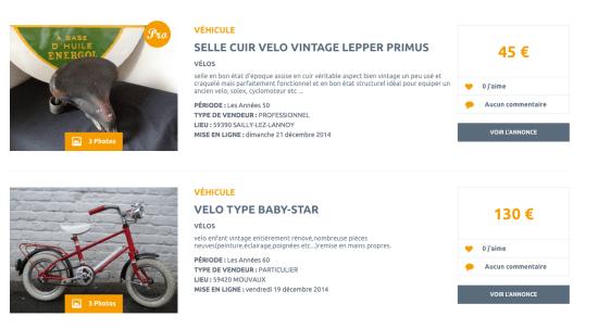 Sélection vélos par les VIeilles Choses