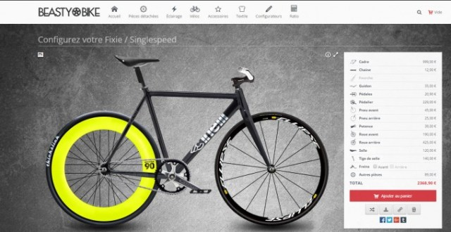 Beasty Bike : configurer sont fixie
