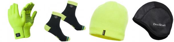 Gants, chaussettes et bonnets pour le mauvais temps