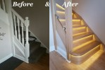 Staircase renovation before & after completion in Doncaster 3