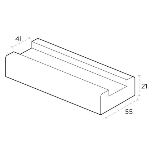 Base Rail with Spindle Groove