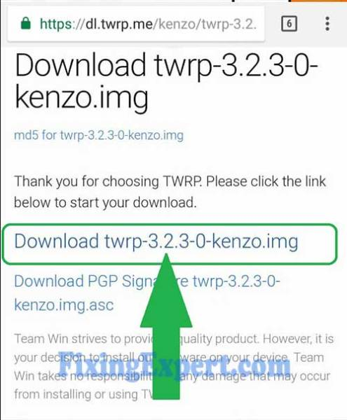 Download Twrp Manually for Xiaomi Redmi Note 3