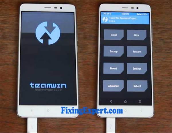 Successfully Install the Twrp On Xiaomi redmi note 3
