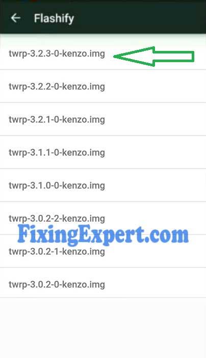 Download Twrp for Xiaomi redmi note 3 Inside flashify App - FixingExpert