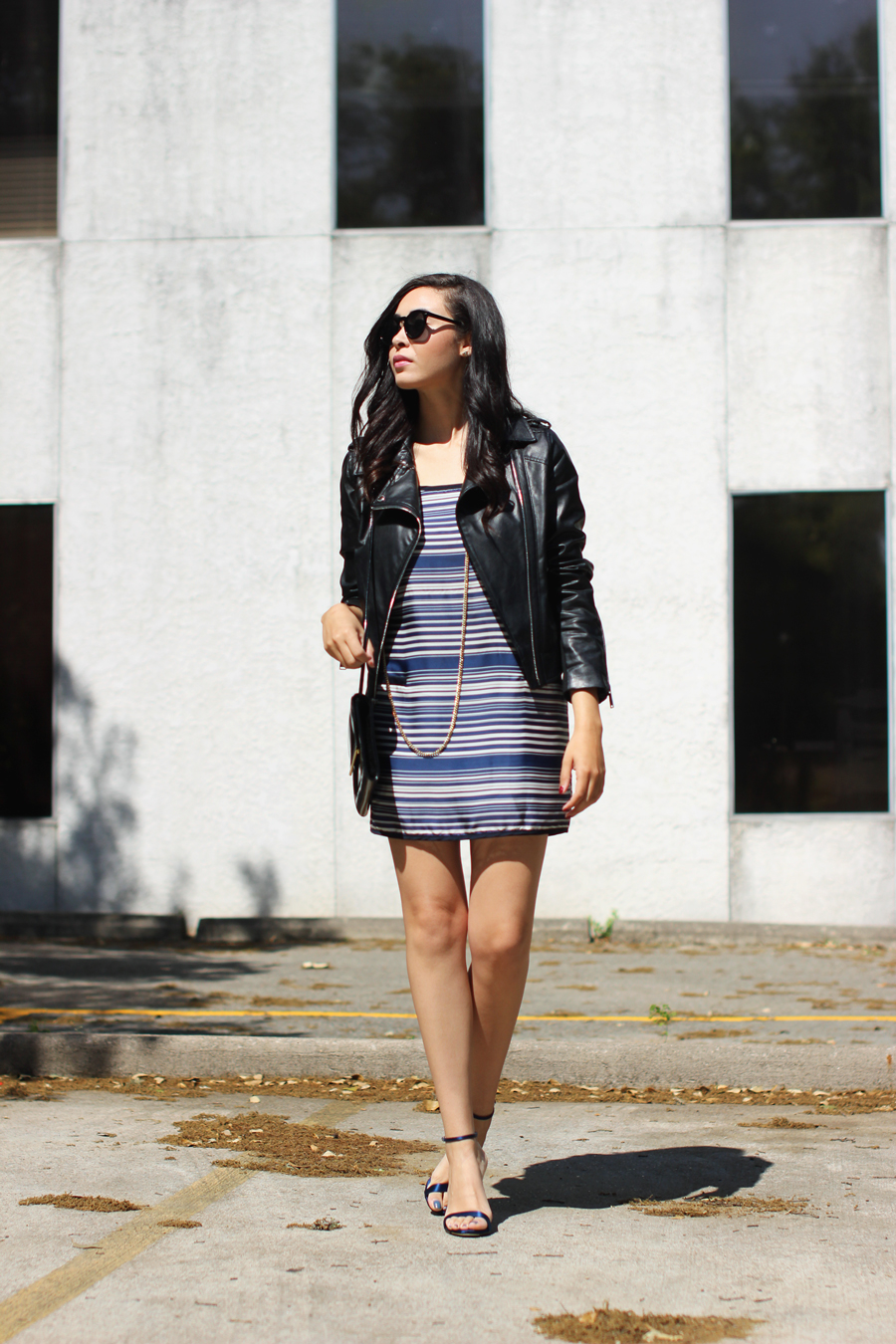 FTT-STRIPED-DRESS-LEATHER-JACKET-BCBG-AUSTIN-BLOGGER-4
