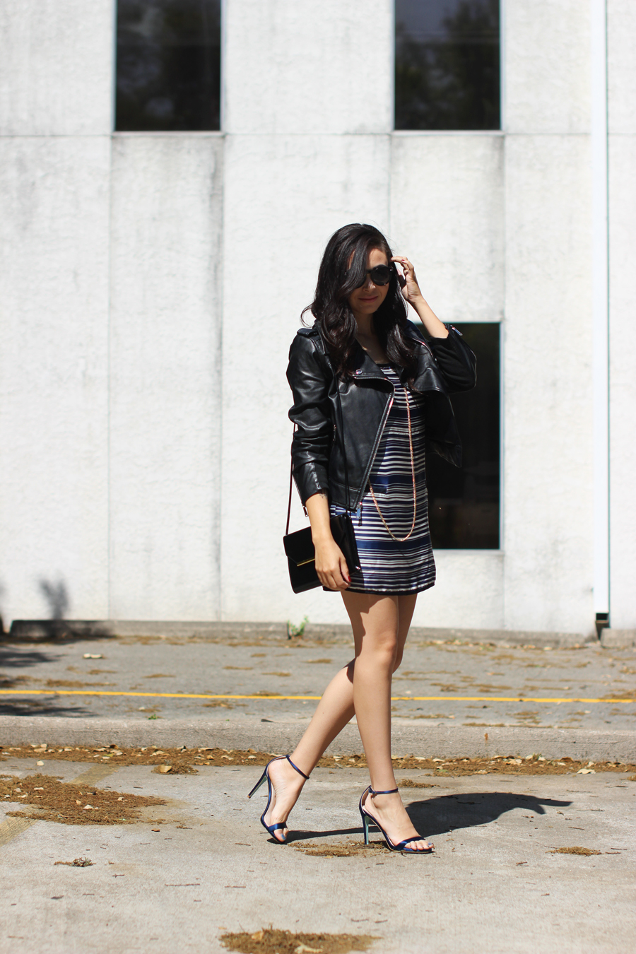 FTT-STRIPED-DRESS-LEATHER-JACKET-BCBG-AUSTIN-BLOGGER-9