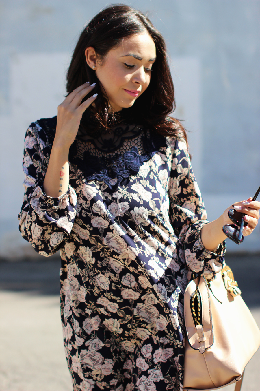 FTT-PINK-AND-SILVER-BLUE-HIGH-NECK-FLORAL-DRESS