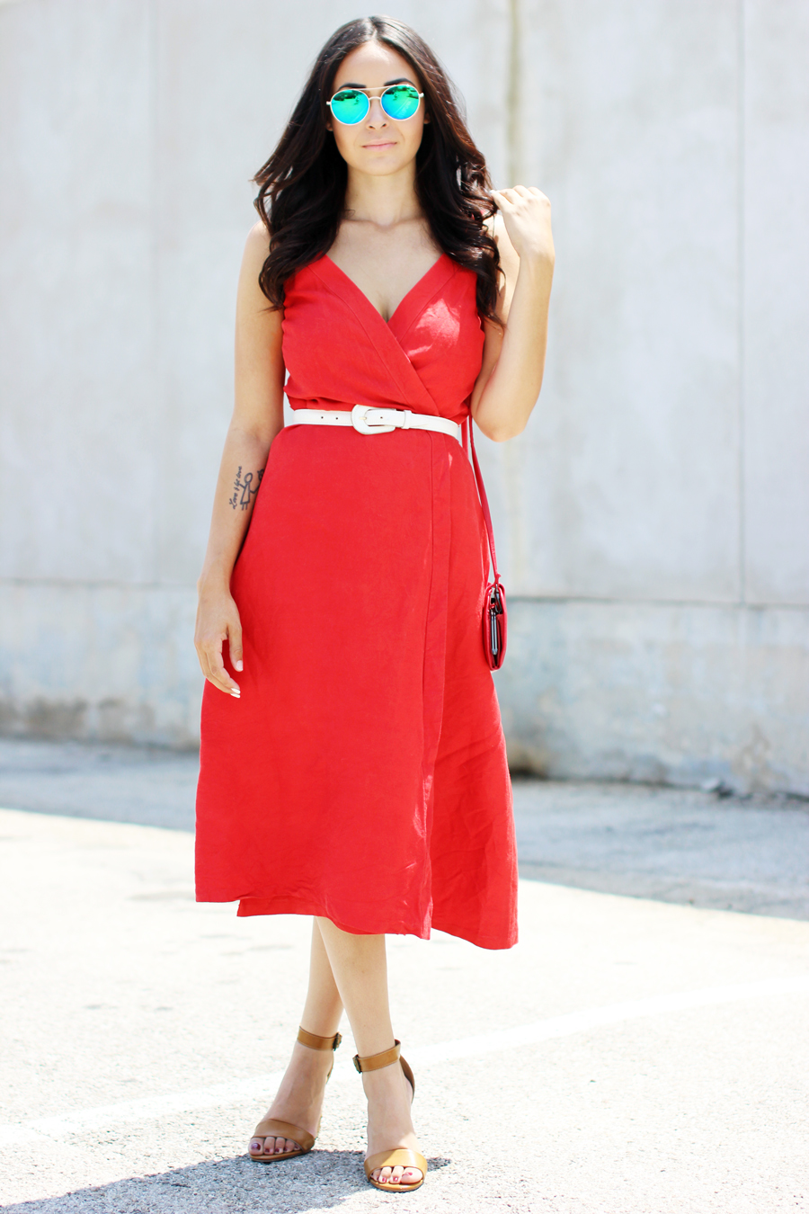 FTT-RED-WRAP-MIDI-DRESS-SUMMER-STYLE-12