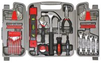 A repair tool kit offers a handy case for holding common home repair tools.
