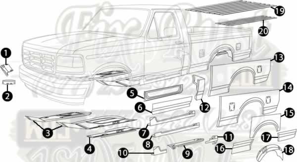 1993 Toyota Pickup Door Panel