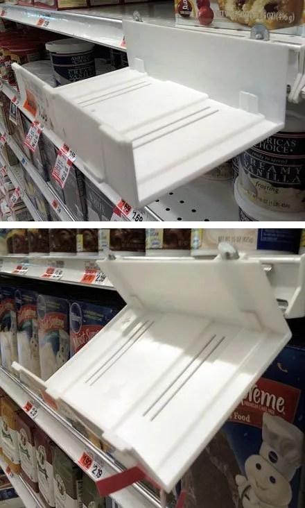 Adjustable Angle Shelf-Edge Tray