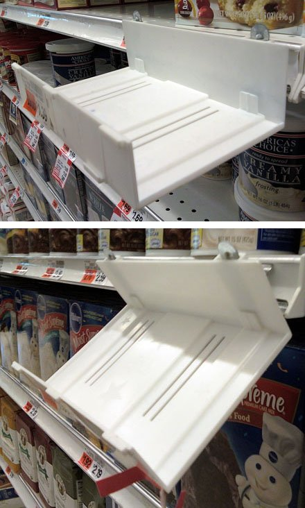 Adjustable Angle Shelf-Edge Tray