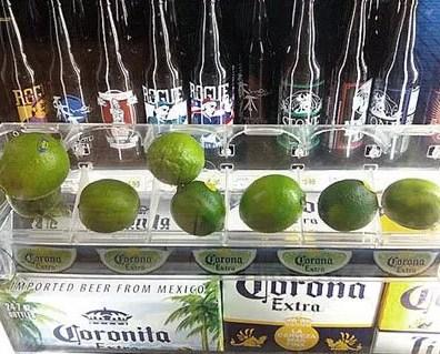 Cooler Door Lime Merchandiser