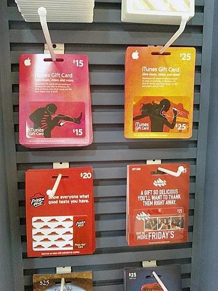 Gift Cards Slatwall Hook