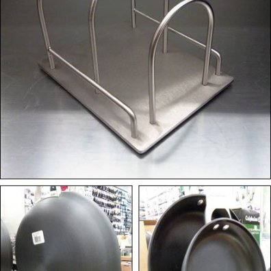 Tiered Wireform Cookware Displayer