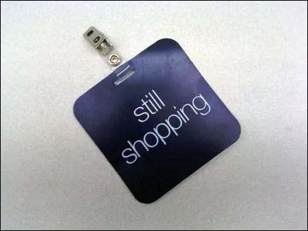 VIP Still Shopping Tag