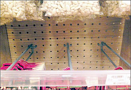 Woodgrain Pegboard For Natural Merchandising