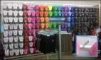 Mass Merchandising Flip Flops on Bar Merchandiser