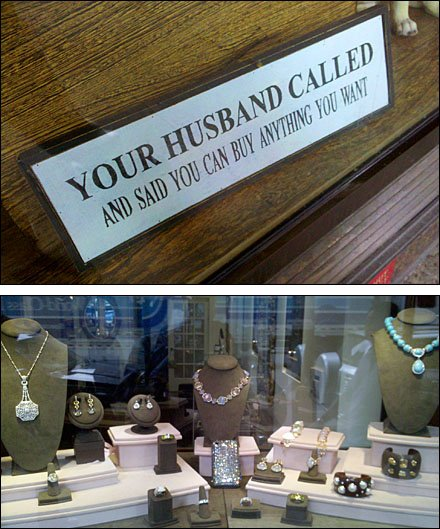 Empowering Jewelry Signage Boosts Sales